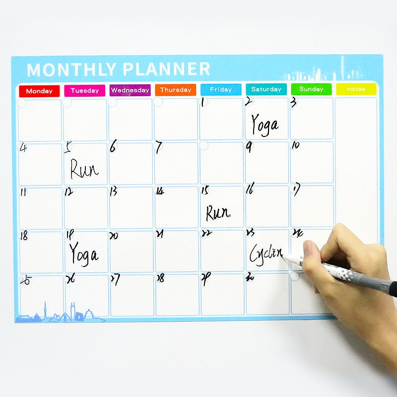 Magnetic Monthly Calendar Dry Erase Whiteboard Monthly Planner