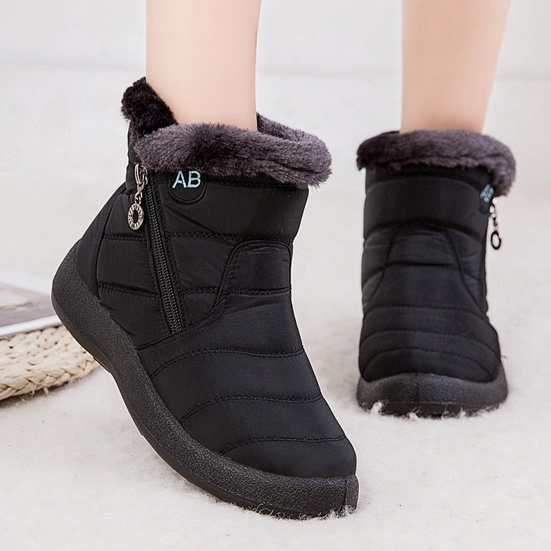 Waterproof Lightweight Ankle Snow Boots