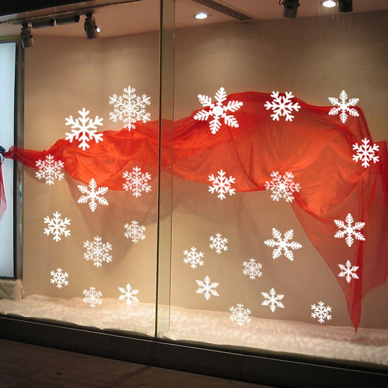 27 Piece Snowflake Window Decal Set