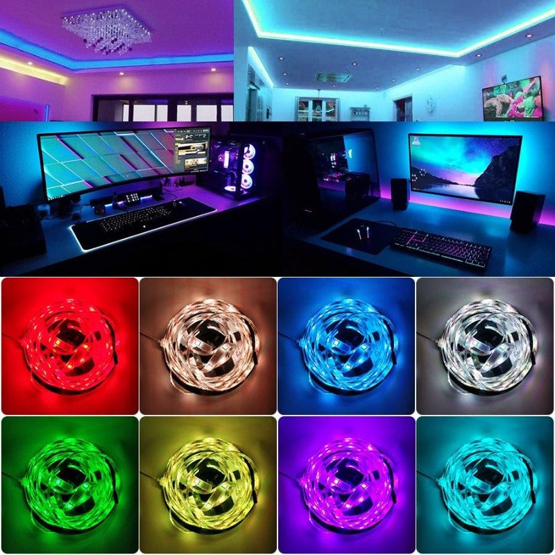 Remote Controlled LED Strip Lights