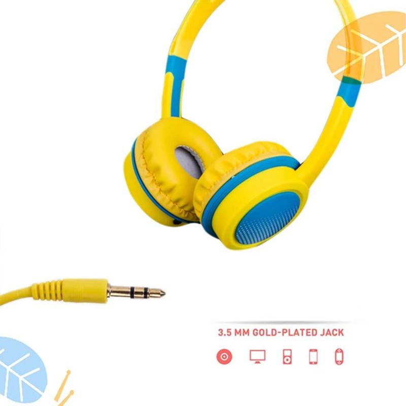 Kid's Adjustable Safety Headphones with Mic - Orange