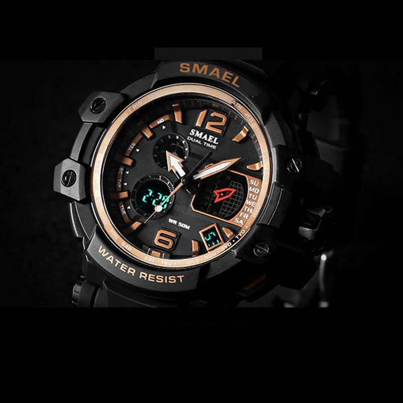 Men's LED Waterproof Sports Watch