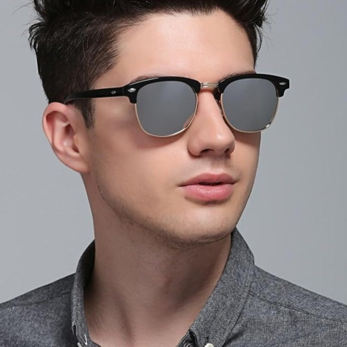 Polarized Semi-Rimless UV400 Classic Sunglasses