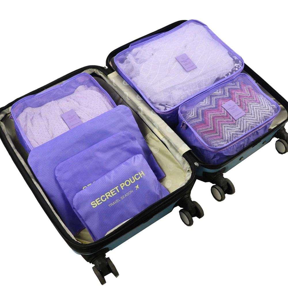 6Pcs or 8Pcs Travel Set - Clothes - Shoes - Quilt - Blanket Storage