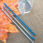 Titanium Reusable Straw Set and Cleaner Brush