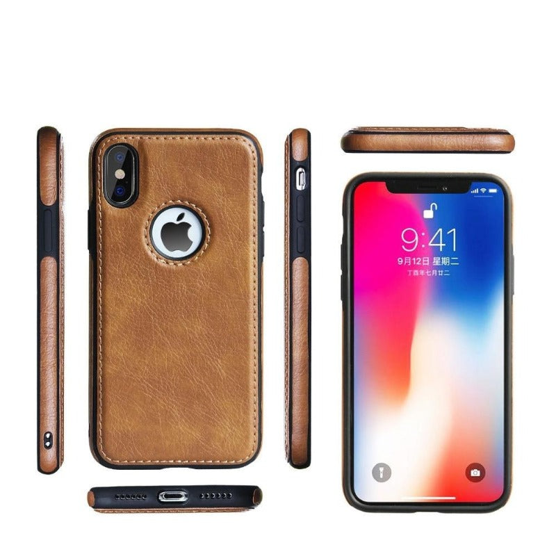 Leather Snap-On Case For iPhone