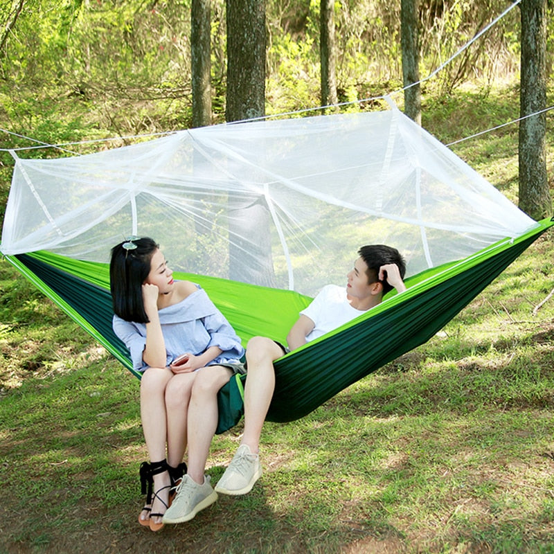 Ultralight 2 Person Parachute Hammock with Mosquito Net - 400LB