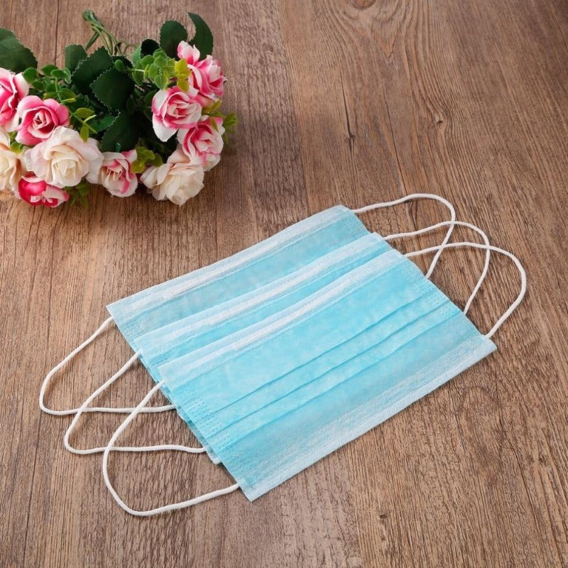 50 Pcs - 3 Layer Disposable Non-Woven Face Mask
