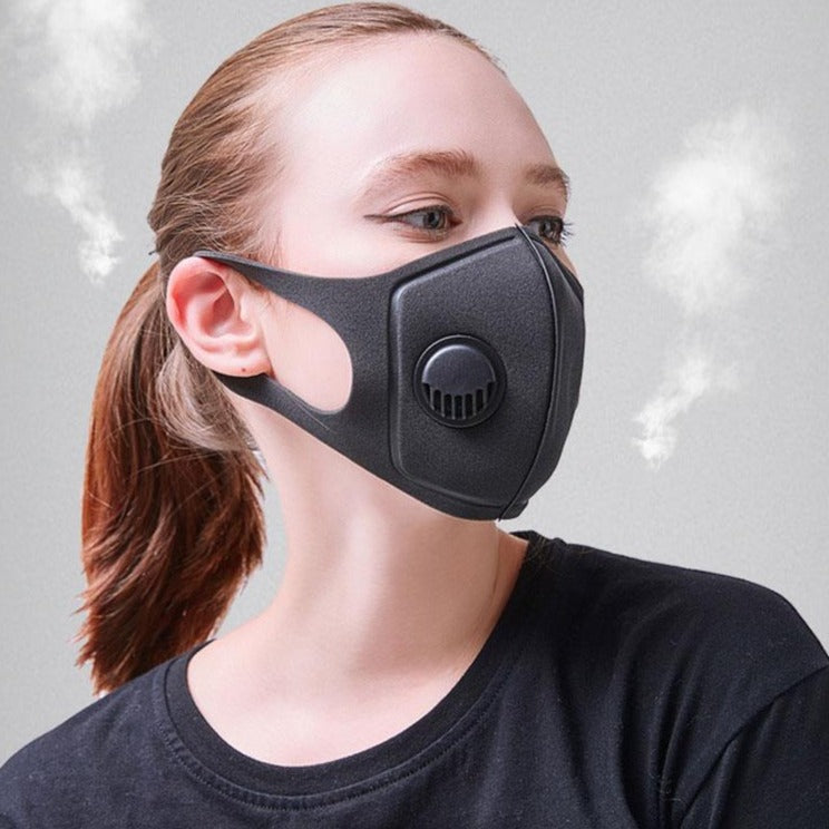 2 Pack Sponge Respirator Dust Masks with Air Valve