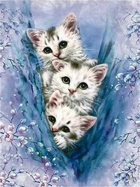 Diamond Painting Cat Rhinestone Cross Stitch
