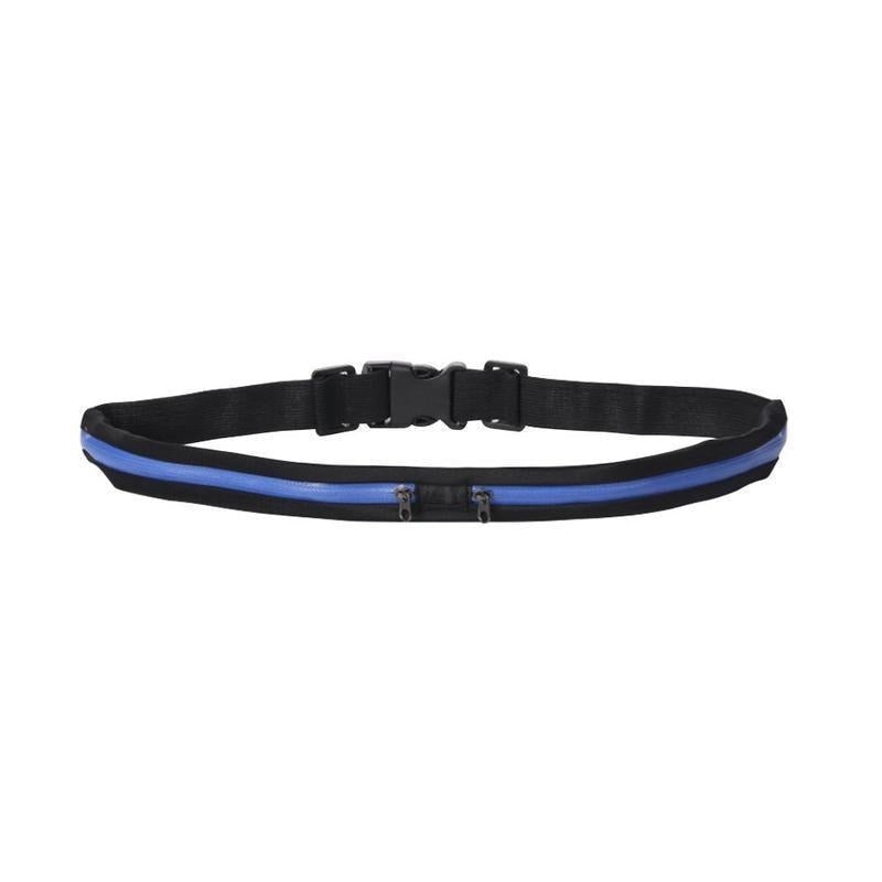Reflective Safety Running Belt with Anti-Theft Pocket - Blue