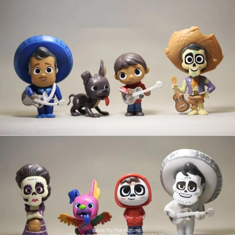 8 Piece Coco Movie Figurine Set