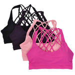Women's Padded Yoga Running Workout Bra Tank Top