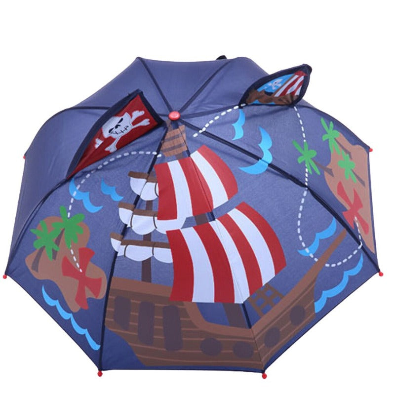 Wind Resistant 3D Cartoon Umbrella For Kids