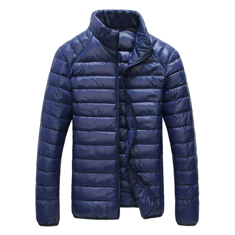 Men's White Duck 90% Down Jacket