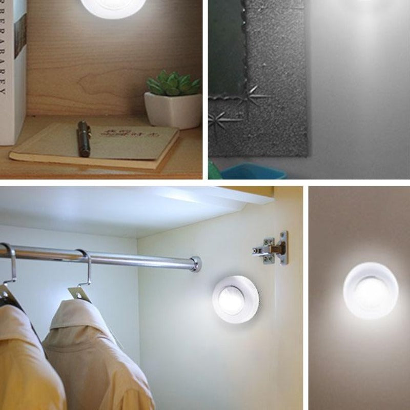 5 Pack LED Under Cabinet Wireless Lights With Adhesive Sticker
