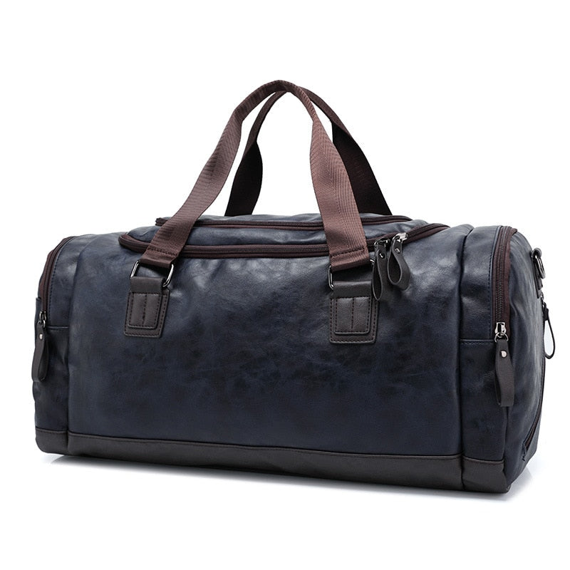 Leather Travel Duffel Bag