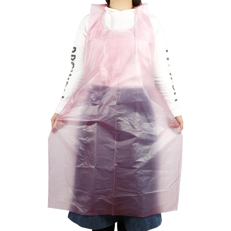Disposable Waterproof Oil-Proof Clothing Protector Plastic Aprons