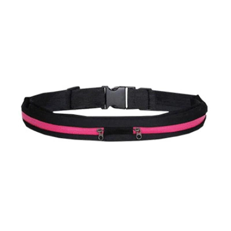 Reflective Safety Running Belt with Anti-Theft Pocket - Hot Pink