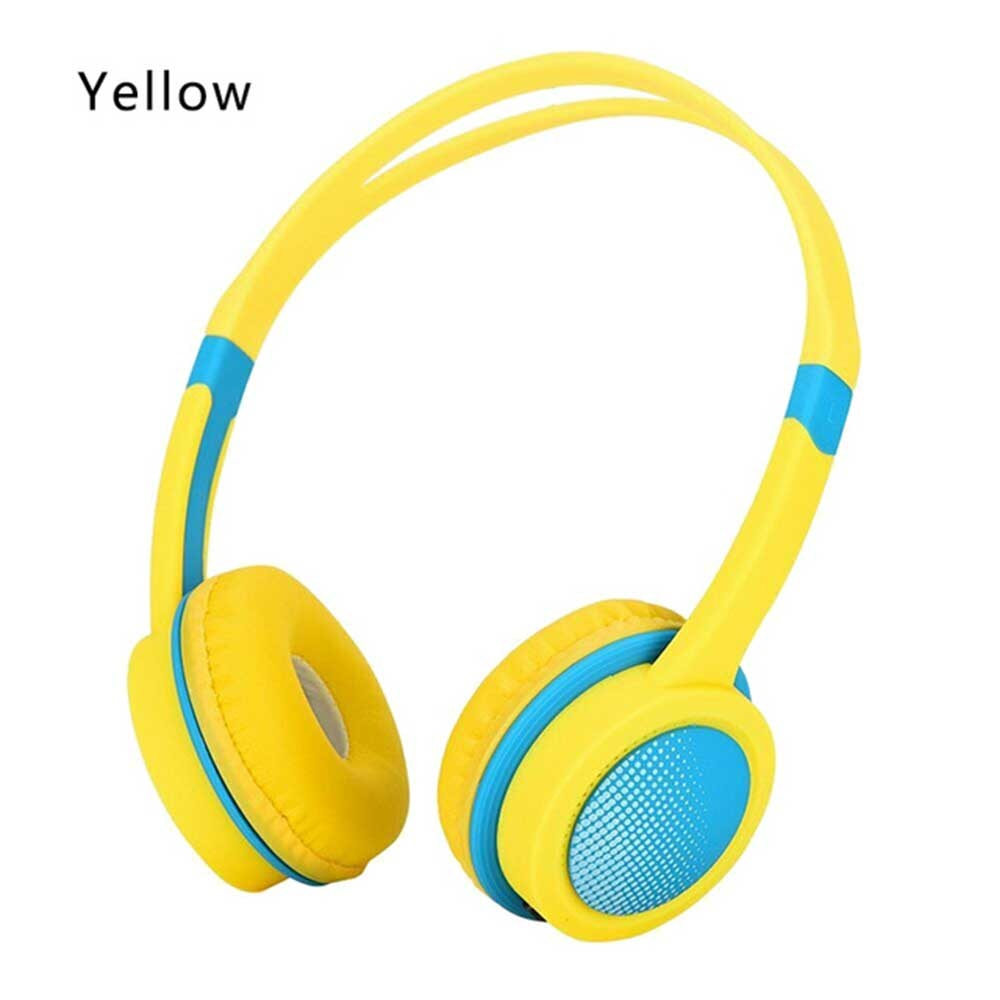 Kid's Adjustable Safety Headphones with Mic - Yellow