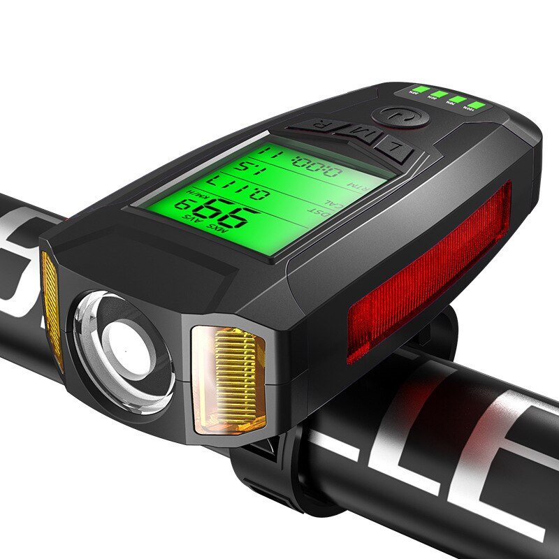 Waterproof USB Bicycle Flashlight With Horn