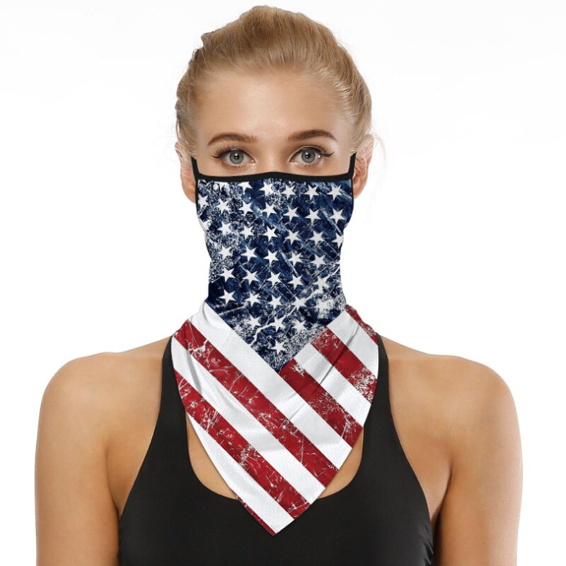 3 Pack American Flag Print Sun - Dust Face Protection