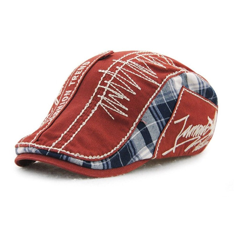 Men's Vintage Plaid Cabbie Hat