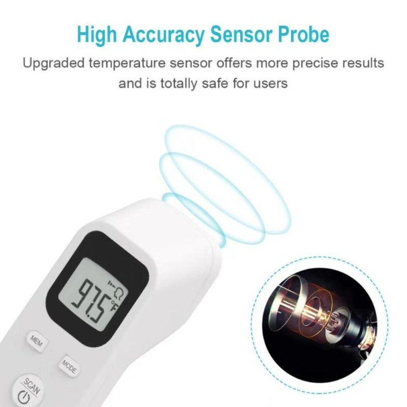 Digital Contactless Infrared Forehead Thermometer with LCD-Display