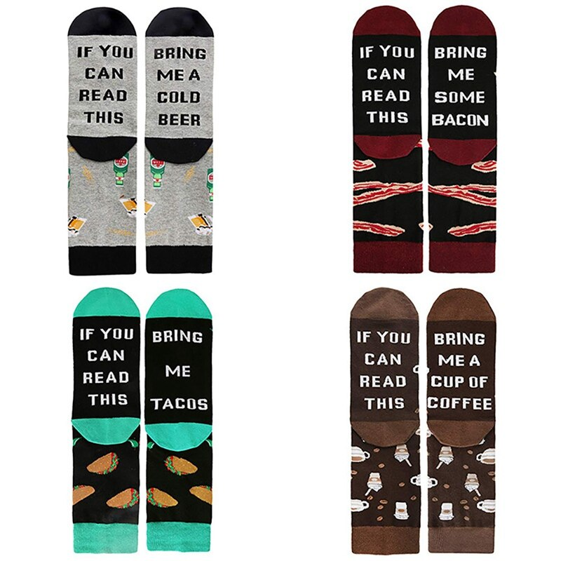 Unisex Cotton Printed Socks