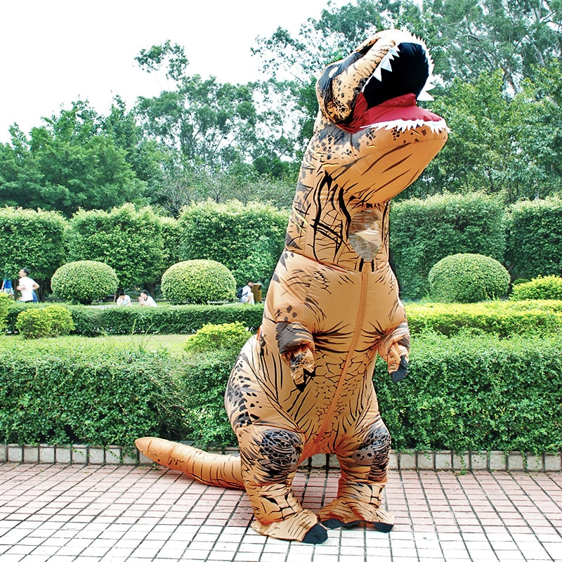 Inflatable T-Rex Dinosaur Costume For Adults and Kids
