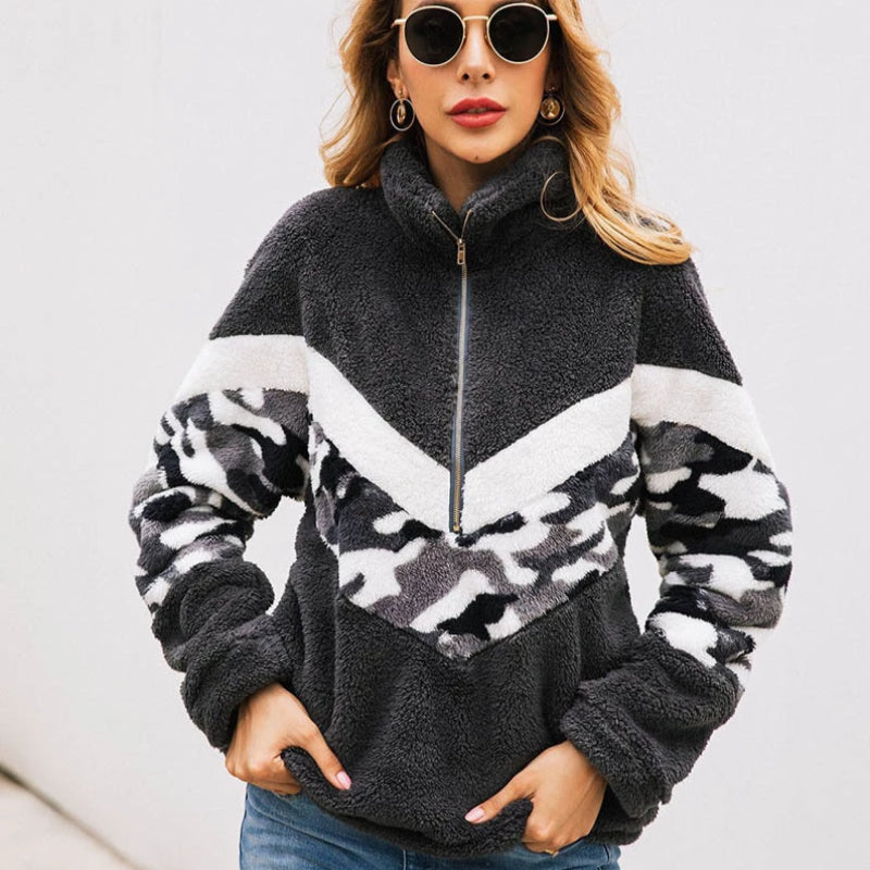 Women's Disruptive Patchwork Pullover Fleece