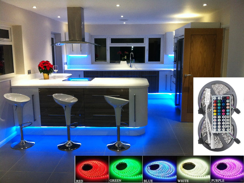 Rgb Led Ribbon Light Strip With Remote Control Controller Pic12f675