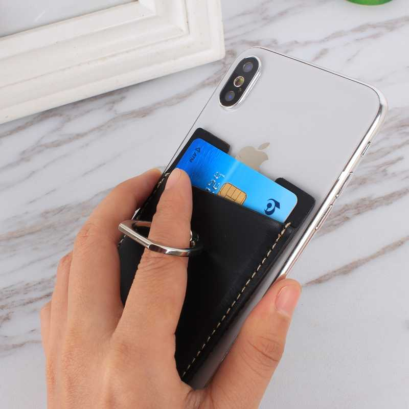 Universal Ring Stand Cell Phone Adhesive Card Holder