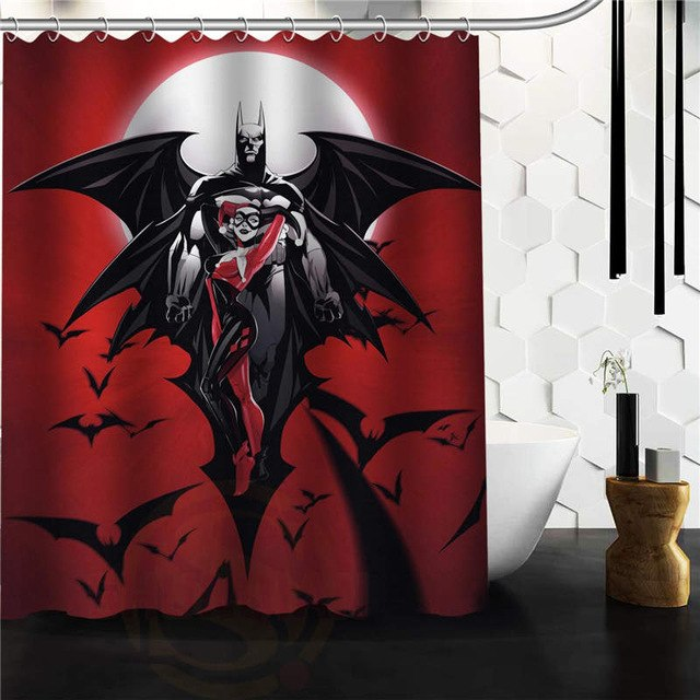 Cartoon Shower Curtain Waterproof Polyester Fabric With 12 Hooks