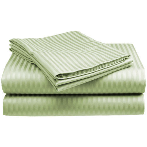 4-Piece: Striped Hotel Life Deluxe 300TC Sateen Sheet Set