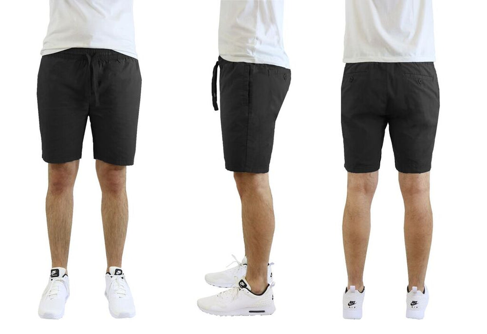 Men's Cotton Stretch Poplin Lounge Shorts