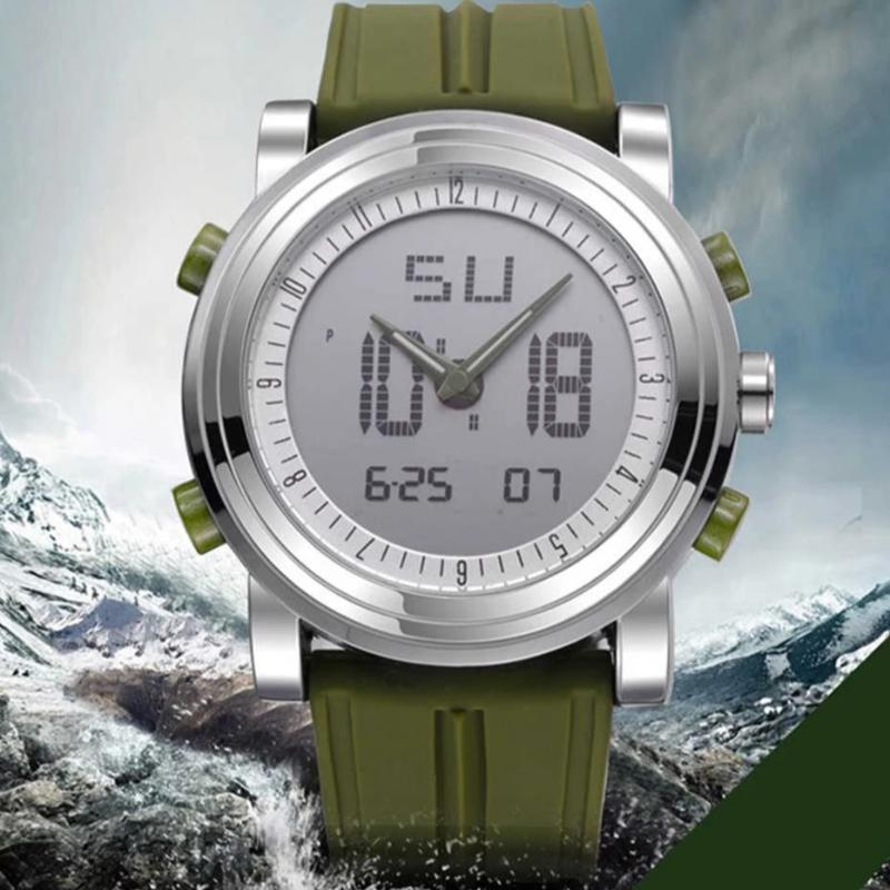Men's Digital Quartz Movement Waterproof Diving Wrist Watch