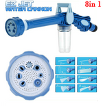 Multi-function 8 in 1 Garden Gun Hose Nozzle Sprinkler with Water Soap Dispenser Pump Spray - Garden - Carwash - Windows