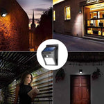 40 LED Solar Powered Motion Sensor Waterproof Wall Light
