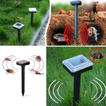 4 Pack: Ultrasonic Solar Powered Rodent Pest Control Garden Repeller