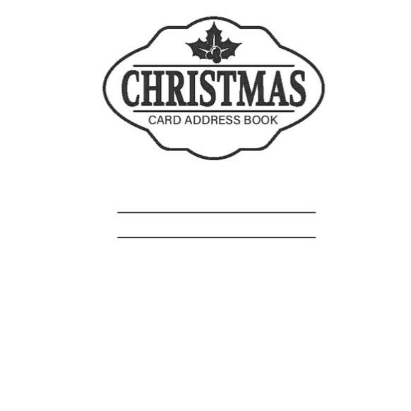 10 Year Christmas Card Address Book And Tracker