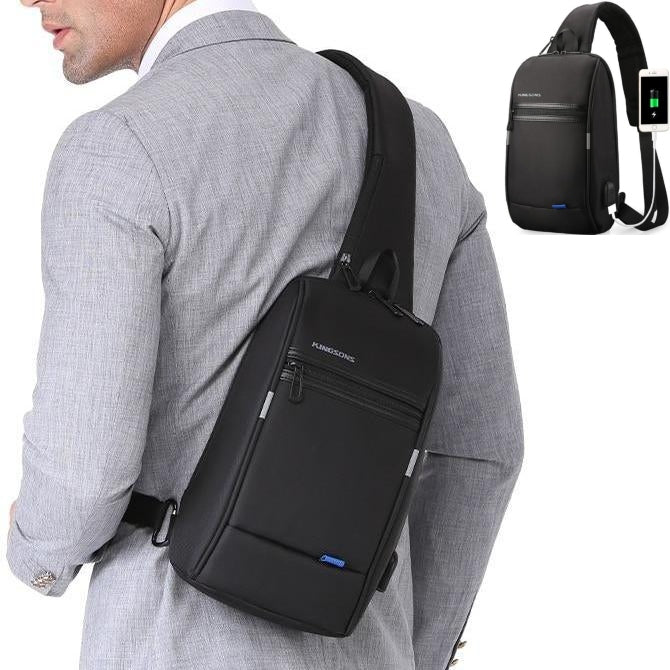 Business Casual Crossbody USB Charging Travel Bag