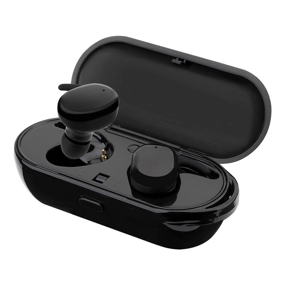 Wireless Stereo Bluetooth Earphones with Built-In Mic & Charging Case Was: $124.99 Now: $42.99 and Free Shipping.