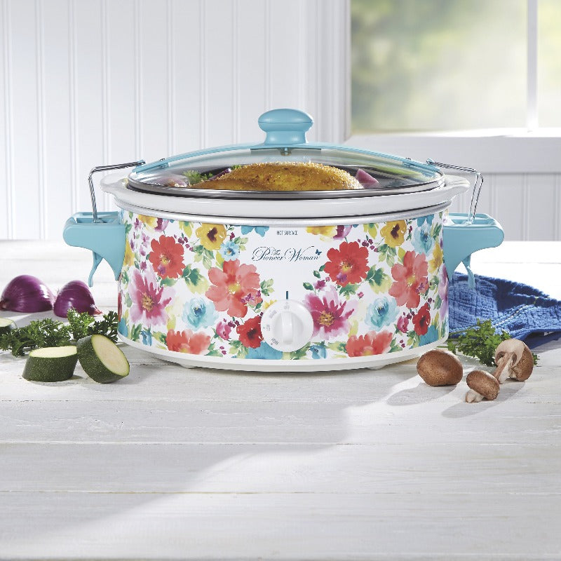 6 Quart Floral Portable Slow Cooker
