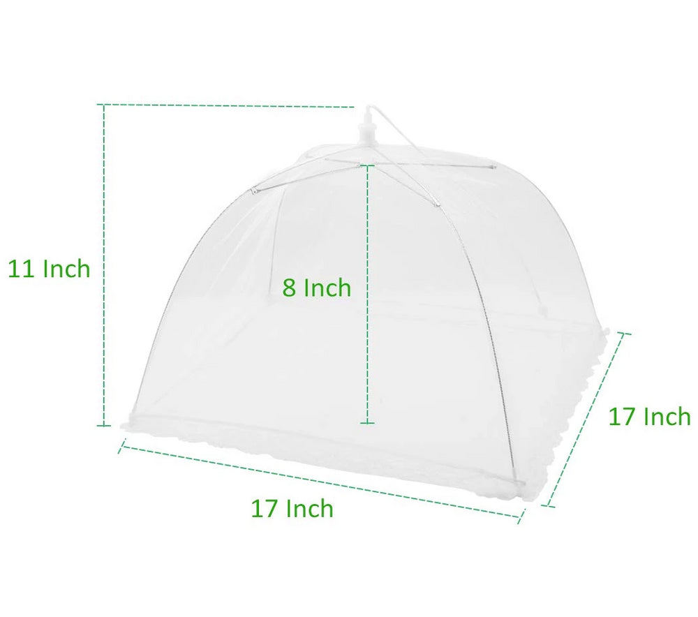 "4 Pack Food Cover Tents, Collapsible Pop-Up 17"" Mesh Covers"