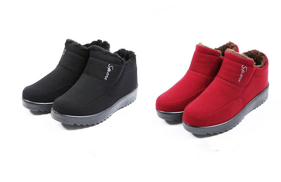 Women's Fur Lined Cotton Thick Winter Boots