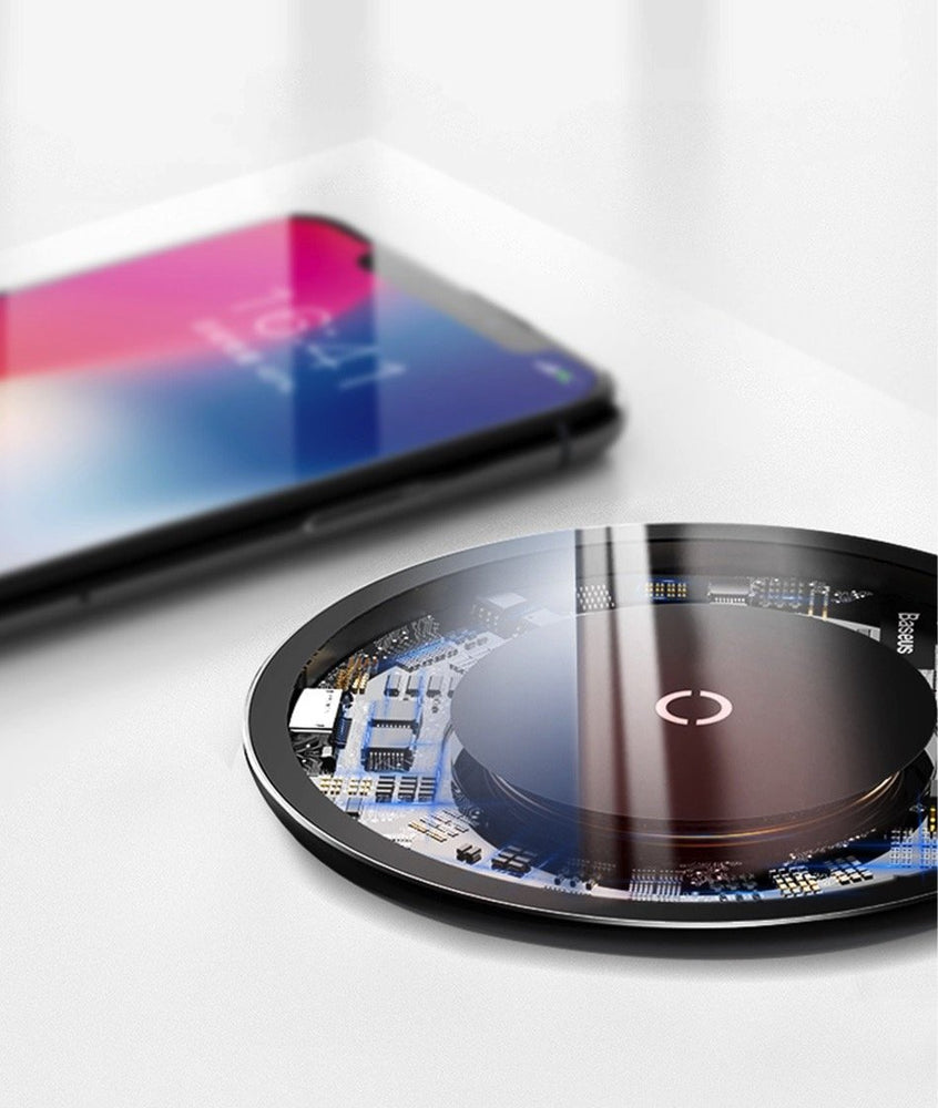 Qi Fast 10W Invisible Glass Wireless Charger