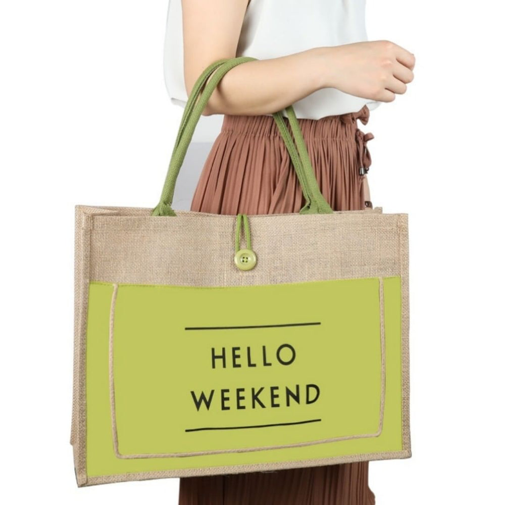 Women's High Quality Linen Luxury Tote