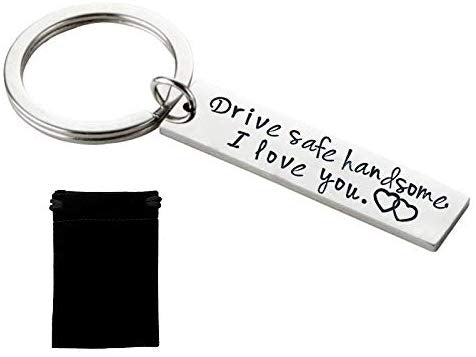 "Drive Safe Keychain ""I Need You Here with Me"""