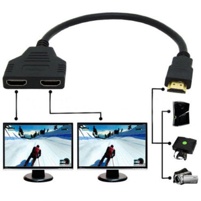 HDMI Male to Dual HDMI Female Splitter Cable